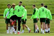 9 June 2019; Shane Duffy during a Republic of Ireland training session at the FAI National Training Centre in Abbotstown, Dublin. Photo by Stephen McCarthy/Sportsfile