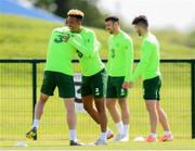 9 June 2019; Callum Robinson with Seamus Coleman, left, during a Republic of Ireland training session at the FAI National Training Centre in Abbotstown, Dublin. Photo by Stephen McCarthy/Sportsfile