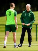 9 June 2019; Republic of Ireland manager Mick McCarthy and Ronan Curtis during a training session at the FAI National Training Centre in Abbotstown, Dublin. Photo by Stephen McCarthy/Sportsfile