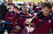 9 June 2019; Galway captain David Burke arrives ahead of the Leinster GAA Hurling Senior Championship Round 4 match between Kilkenny and Galway at Nowlan Park in Kilkenny. Photo by Daire Brennan/Sportsfile