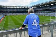 9 June 2019; Dublin supporter John Reardon, from Rathcoole, on Hill 16 before the Leinster GAA Football Senior Championship Semi-Final match between Dublin and Kildare at Croke Park in Dublin. Photo by Piaras Ó Mídheach/Sportsfile