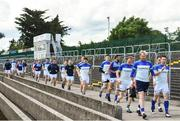 9 June 2019; The Longford team make their way for warm-up ahead of the GAA Football All-Ireland Senior Championship Round 1 match between Carlow and Longford at Netwatch Cullen Park in Carlow. Photo by Ramsey Cardy/Sportsfile
