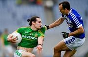 9 June 2019; Cillian O'Sullivan of Meath in action against Gareth Dillon of Laois during the Leinster GAA Football Senior Championship Semi-Final match between Meath and Laois at Croke Park in Dublin. Photo by Piaras Ó Mídheach/Sportsfile