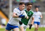 9 June 2019; Karl O'Connell of Monaghan in action against Ciaran Corrigan of Fermanagh during the GAA Football All-Ireland Senior Championship Round 1 match between Monaghan and Fermanagh at St Tiarnach's Park in Clones, Monaghan. Photo by Oliver McVeigh/Sportsfile