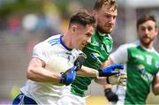 9 June 2019; Karl O'Connell of Monaghan in action against Aidan Breen of Fermanagh during the GAA Football All-Ireland Senior Championship Round 1 match between Monaghan and Fermanagh at St Tiarnach's Park in Clones, Monaghan. Photo by Oliver McVeigh/Sportsfile