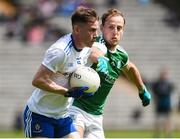 9 June 2019; Karl O'Connell of Monaghan in action against Lee Cullen of Fermanagh during the GAA Football All-Ireland Senior Championship Round 1 match between Monaghan and Fermanagh at St Tiarnach's Park in Clones, Monaghan. Photo by Oliver McVeigh/Sportsfile
