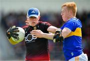 9 June 2019; Rory Burns of Down in action against Josh Keane of Tipperary during the GAA Football All-Ireland Senior Championship Round 1 match between Down and Tipperary at Pairc Esler in Newry, Down. Photo by David Fitzgerald/Sportsfile