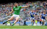 9 June 2019; Mickey Newman of Meath scores his side's second goal, from a penalty, during the Leinster GAA Football Senior Championship Semi-Final match between Meath and Laois at Croke Park in Dublin. Photo by Piaras Ó Mídheach/Sportsfile