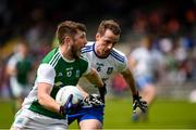 9 June 2019; James McMahon of Fermanagh in action against Conor Boyle of Monaghan during the GAA Football All-Ireland Senior Championship Round 1 match between Monaghan and Fermanagh at St Tiarnach's Park in Clones, Monaghan. Photo by Philip Fitzpatrick/Sportsfile