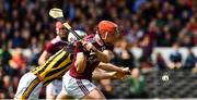 9 June 2019; Conor Whelan of Galway fires in a shot under pressure from Huw Lawlor of Kilkenny during the Leinster GAA Hurling Senior Championship Round 4 match between Kilkenny and Galway at Nowlan Park in Kilkenny. Photo by Ray McManus/Sportsfile