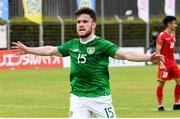 9 June 2019; Aaron Connolly of Republic of Ireland celebrates after scoring his side's first goal during the 2019 Maurice Revello Toulon Tournament match between Bahrain and Republic of Ireland at Stade Jules Ladoumègue in Vitrolles, France. Photo by Alexandre Dimou/Sportsfile