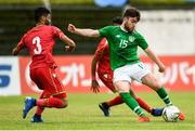 9 June 2019; Aaron Connolly of Republic of Ireland in action against Ahmed Bughammar of Bahrain during the 2019 Maurice Revello Toulon Tournament match between Bahrain and Republic of Ireland at Stade Jules Ladoumègue in Vitrolles, France. Photo by Alexandre Dimou/Sportsfile