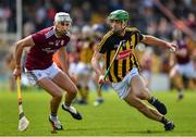 9 June 2019; Tommy Walsh of Kilkenny in action against Jason Flynn of Galway  during the Leinster GAA Hurling Senior Championship Round 4 match between Kilkenny and Galway at Nowlan Park in Kilkenny. Photo by Ray McManus/Sportsfile