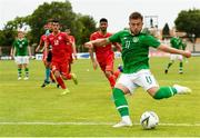 9 June 2019; Josh Barrett of Republic of Ireland during the 2019 Maurice Revello Toulon Tournament match between Bahrain and Republic of Ireland at Stade Jules Ladoumègue in Vitrolles, France. Photo by Alexandre Dimou/Sportsfile