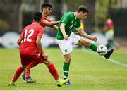 9 June 2019; Jayson Molumby of Republic of Ireland in action against Jasim Alsalama of Bahrain during the 2019 Maurice Revello Toulon Tournament match between Bahrain and Republic of Ireland at Stade Jules Ladoumègue in Vitrolles, France. Photo by Alexandre Dimou/Sportsfile