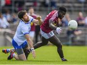 9 June 2019; Boidu Sayeh of Westmeath in action against Tommy Prendergast of Waterford during the GAA Football All-Ireland Senior Championship Round 1 match between Westmeath and Waterford at TEG Cusack Park in Mullingar, Westmeath. Photo by Harry Murphy/Sportsfile
