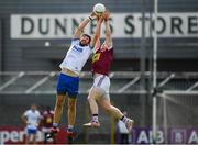 9 June 2019; Tommy Prendergast of Waterford in action against Kieran Martin of Westmeath during the GAA Football All-Ireland Senior Championship Round 1 match between Westmeath and Waterford at TEG Cusack Park in Mullingar, Westmeath. Photo by Harry Murphy/Sportsfile