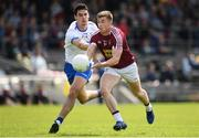 9 June 2019; Ger Egan of Westmeath in action against Shane Ahearne of Waterford during the GAA Football All-Ireland Senior Championship Round 1 match between Westmeath and Waterford at TEG Cusack Park in Mullingar, Westmeath. Photo by Harry Murphy/Sportsfile