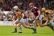 9 June 2019; Padraig Walsh of Kilkenny in action against Jonathan Glynn of Galway during the Leinster GAA Hurling Senior Championship Round 4 match between Kilkenny and Galway at Nowlan Park in Kilkenny. Photo by Ray McManus/Sportsfile
