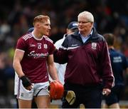9 June 2019; Conor Whelan of Galway is congratulated after the Leinster GAA Hurling Senior Championship Round 4 match between Kilkenny and Galway at Nowlan Park in Kilkenny. Photo by Ray McManus/Sportsfile