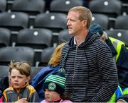 9 June 2019; Former Kilkenny All Star and ten times All Ireland medal winner Henry Shefflin watches the last few minutes of the Leinster GAA Hurling Senior Championship Round 4 match between Kilkenny and Galway at Nowlan Park in Kilkenny. Photo by Ray McManus/Sportsfile