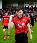 9 June 2019; Donal O'Hare of Down celebrates following the GAA Football All-Ireland Senior Championship Round 1 match between Down and Tipperary at Pairc Esler in Newry, Down. Photo by David Fitzgerald/Sportsfile