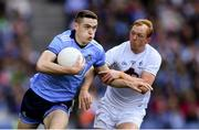 9 June 2019; Brian Fenton of Dublin in action against Keith Cribbin of Kildare during the Leinster GAA Football Senior Championship Semi-Final match between Dublin and Kildare at Croke Park in Dublin. Photo by Piaras Ó Mídheach/Sportsfile