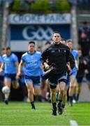9 June 2019; Dublin captain Stephen Cluxton leads his team-mates to the pitch before making his 100th senior championship appearance for Dublin in the Leinster GAA Football Senior Championship Semi-Final match between Dublin and Kildare at Croke Park in Dublin. Photo by Piaras Ó Mídheach/Sportsfile