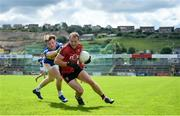 9 June 2019; Darren O'Hagan of Down in action against Emmet Moloney of Tipperary during the GAA Football All-Ireland Senior Championship Round 1 match between Down and Tipperary at Pairc Esler in Newry, Down. Photo by David Fitzgerald/Sportsfile