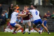 9 June 2019; Ger Egan of Westmeath in action against Brian Looby, left, and Shane Ryan of Waterford during the GAA Football All-Ireland Senior Championship Round 1 match between Westmeath and Waterford at TEG Cusack Park in Mullingar, Westmeath. Photo by Harry Murphy/Sportsfile