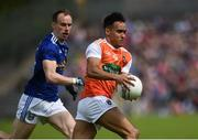 9 June 2019; Jemar Hall of Armagh in action against Martin Reilly of Cavan during the Ulster GAA Football Senior Championship Semi-Final Replay match between Cavan and Armagh at St Tiarnach's Park in Clones, Monaghan. Photo by Oliver McVeigh/Sportsfile