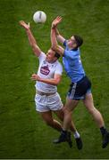 9 June 2019; Brian Fenton of Dublin in action against Tommy Moolick of Kildare during the Leinster GAA Football Senior Championship semi-final match between Dublin and Kildare at Croke Park in Dublin. Photo by Stephen McCarthy/Sportsfile