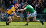 9 June 2019; John Conlon of Clare in action against Declan Hannon of Limerick during the Munster GAA Hurling Senior Championship Round 4 match between Limerick and Clare at the LIT Gaelic Grounds in Limerick. Photo by Diarmuid Greene/Sportsfile