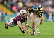 9 June 2019; Huw Lawlor of Kilkenny in action against Jason Flynn of Galway during the Leinster GAA Hurling Senior Championship Round 4 match between Kilkenny and Galway at Nowlan Park in Kilkenny. Photo by Daire Brennan/Sportsfile