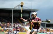 9 June 2019; Daithí Burke of Galway in action against Adrian Mullen of Kilkenny during the Leinster GAA Hurling Senior Championship Round 4 match between Kilkenny and Galway at Nowlan Park in Kilkenny. Photo by Daire Brennan/Sportsfile
