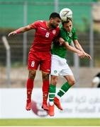 9 June 2019; Lee O Connor of Republic of Ireland in action against Mohamed Marhoon of Bahrain during the 2019 Maurice Revello Toulon Tournament match between Bahrain and Republic of Ireland at Stade Jules Ladoumègue in Vitrolles, France. Photo by Alexandre Dimou/Sportsfile