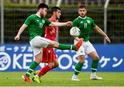 9 June 2019; Aaron Connolly of Republic of Ireland in action against Jasim Alsalama of Bahrain during the 2019 Maurice Revello Toulon Tournament match between Bahrain and Republic of Ireland at Stade Jules Ladoumègue in Vitrolles, France. Photo by Alexandre Dimou/Sportsfile