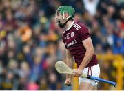 9 June 2019; Brian Concannon of Galway celebrates after scoring his side's second goal during the Leinster GAA Hurling Senior Championship Round 4 match between Kilkenny and Galway at Nowlan Park in Kilkenny. Photo by Daire Brennan/Sportsfile