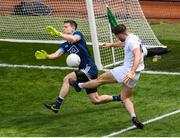 9 June 2019; Stephen Cluxton of Dublin saves from Ben McCormack of Kildare during the Leinster GAA Football Senior Championship semi-final match between Dublin and Kildare at Croke Park in Dublin. Photo by Stephen McCarthy/Sportsfile