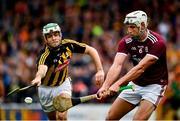 9 June 2019; Gearoid McInerney of Galway in action against Paddy Deegan of Kilkenny during the Leinster GAA Hurling Senior Championship Round 4 match between Kilkenny and Galway at Nowlan Park in Kilkenny. Photo by Ray McManus/Sportsfile