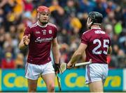 9 June 2019; Jonathan Glynn, left, and Seán Linnane of Galway celebrate after the Leinster GAA Hurling Senior Championship Round 4 match between Kilkenny and Galway at Nowlan Park in Kilkenny. Photo by Daire Brennan/Sportsfile