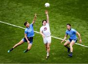 9 June 2019; Chris Healy of Kildare in action against Michael Fitzsimons, left, and David Byrne of Dublin during the Leinster GAA Football Senior Championship semi-final match between Dublin and Kildare at Croke Park in Dublin. Photo by Stephen McCarthy/Sportsfile
