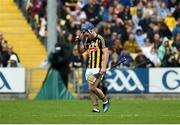 9 June 2019; A dejected Ger Aylward of Kilkenny leaves the field after being sent off during the Leinster GAA Hurling Senior Championship Round 4 match between Kilkenny and Galway at Nowlan Park in Kilkenny. Photo by Daire Brennan/Sportsfile