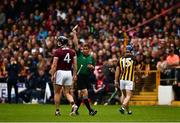 9 June 2019; Ger Aylward, 15, of Kilkenny leaves the field after he and Aidan Harte of Galway were issued with yellow cards by referee Coly Lyons late in the Leinster GAA Hurling Senior Championship Round 4 match between Kilkenny and Galway at Nowlan Park in Kilkenny. Photo by Ray McManus/Sportsfile