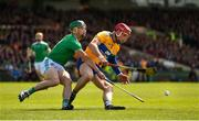9 June 2019; John Conlon of Clare in action against Seán Finn of Limerick during the Munster GAA Hurling Senior Championship Round 4 match between Limerick and Clare at the LIT Gaelic Grounds in Limerick. Photo by Diarmuid Greene/Sportsfile