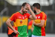 9 June 2019; Diarmuid Walshe of Carlow following the GAA Football All-Ireland Senior Championship Round 1 match between Carlow and Longford at Netwatch Cullen Park in Carlow. Photo by Ramsey Cardy/Sportsfile