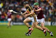 9 June 2019; Richie Hogan of Kilkenny is tackled by David Burke of Galway during the Leinster GAA Hurling Senior Championship Round 4 match between Kilkenny and Galway at Nowlan Park in Kilkenny. Photo by Ray McManus/Sportsfile