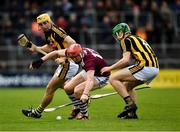 9 June 2019; Conor Whelan of Galway in action against Tommy Walsh, right, and Richie Leahy of Kilkenny during the Leinster GAA Hurling Senior Championship Round 4 match between Kilkenny and Galway at Nowlan Park in Kilkenny. Photo by Ray McManus/Sportsfile