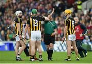 9 June 2019; Paul Murphy of Kilkenny argues with referee Colm Lyons after being sent off during the Leinster GAA Hurling Senior Championship Round 4 match between Kilkenny and Galway at Nowlan Park in Kilkenny. Photo by Daire Brennan/Sportsfile