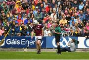 9 June 2019; John Hanbury of Galway gets sent off by referee Colm Lyons during the Leinster GAA Hurling Senior Championship Round 4 match between Kilkenny and Galway at Nowlan Park in Kilkenny. Photo by Daire Brennan/Sportsfile